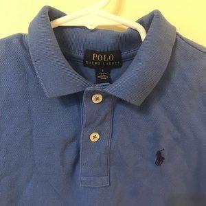Ralph Lauren boys size 5 blue polo shirt